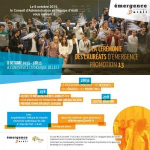 Image à la une de CEREMONIE DES LAUREATS ARELI   8 octobre 18h15 à l' Université Catholique de Lille