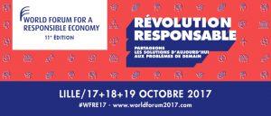 Image à la une de 17, 18 et 19 octobre : World Forum for a Responsible Economy à Lille