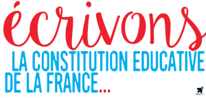 Image à la une de Ecrivons la Constitution Educative de la France!