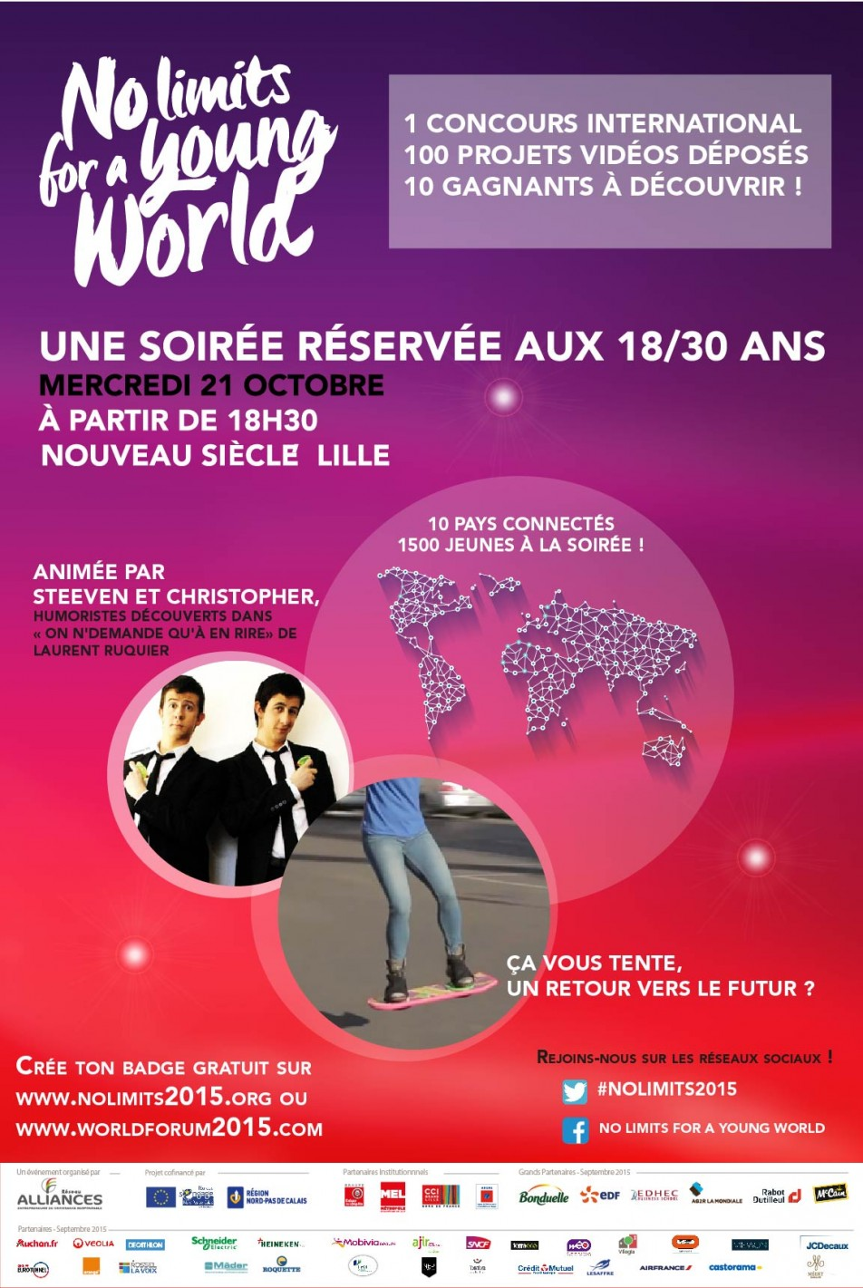 Image à la une de 21 octobre 2015 – Soirée No limits for a Young World