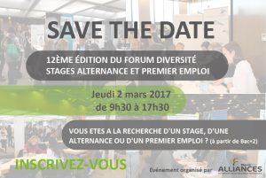 Image à la une de 2 mars 2017 – 12ème Forum Diversité, Stage, Alternance et Premier Emploi
