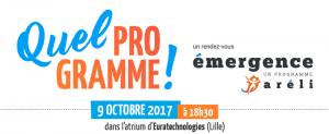 Image à la une de 9 octobre 2017 : Soirée des Lauréats du Programme Emergence d'Aréli