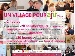 Image à la une de 28 novembre 2017 – Un Village pour AJIR avec Génération MEDEF