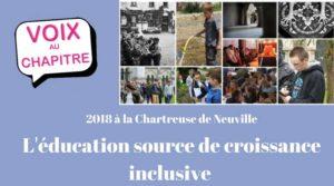 Image à la une de 16 mai 2018 – Chartreuse de Neuville : réfléchir ensemble sur l'éducation au 21è siècle