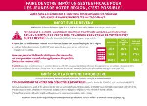 Image AIDER DES JEUNES MOTIVES A REUSSIR : 66% des dons toujours déductibles de l'IR